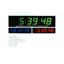 Large Electric Large LED Color Digit Display Wall Time Clock