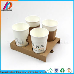 Disposable Paper Cup Coffee Holder Hot Drinking Carrier For 2cups 4cups
