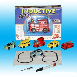 Mini Magic Pen Children's Induction Car Truck Tank Toy Track Inductive Car for Gift