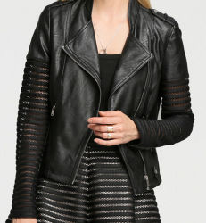 Fashion Cultivate One's Morality Fake Leather Shorts Jacket Puj0708
