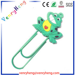 OEM Design 3D Cartoon Soft PVC Bookmark Paper Clip for Gifts