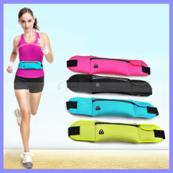 Custom Waterproof Zipper Bag Riding Walking Running Cycling Sport Waist Pouch for Mobile Phone iPhone 6s Plus Keys