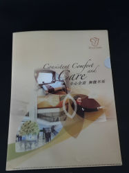 Factory custom plastic PVC file/document/book cover (book folder)