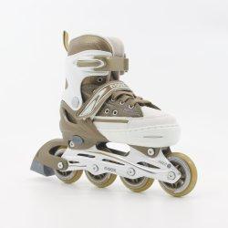 Gold Semi-Soft Aluminum Chassis Adjustable Inline Skate En13843: 2009