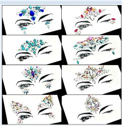 Acrylic Resin Bindi Sticker Handpicked Bohemia Tribal Style Face and Eye Jewels Forehead Stage Decor Sticker (S012)
