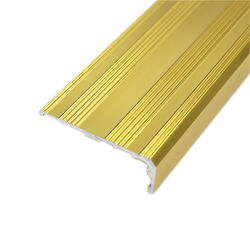 Aluminum Floor Transition Skirting Tile Trim Stair Nose Carborundum Stair  Nosing Strips