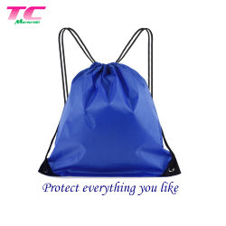 Polyester Waterproof Drawstring Travel Sports Backpack Makeup Bag