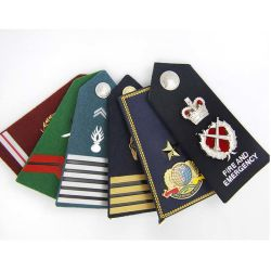 Factory OEM Made Cheap Durable Embroidery Epaulette Shoulder Boards