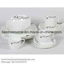 df36012561ab Factory OEM Wholesale Cheap Opal Glass Coffee Cup and Saucer Coffee Set