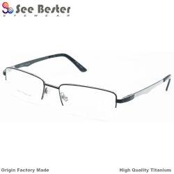 d183120bb6ac Fashion 100% Titanium High Quality Half Frame Optical Frames with Carbon  Fiber and Double Color