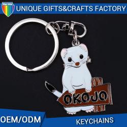 New Product Cute Dog Shaped Metal Key Chain
