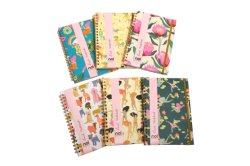 Back to School Flurescence Hardercover Spiral Notebook
