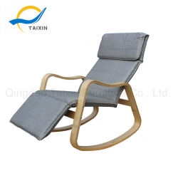 Sofa Fabric Bend Wood Rocking Chair For Relaxing