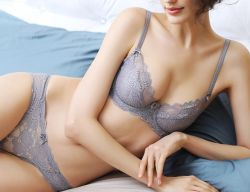 Wholesale New Design Women Sex Panty Bra Sets Solid Lace Embroidery Lingerie  Gray Brassiere and Hollow df2a3a368