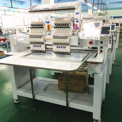Cap/Tshirt/Flat/Shoes/Industrial Computerized 2 Head High Speed Tajima Embroidery Machine