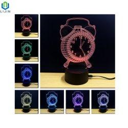 Alarm Clock Visual Sense Night Light for Bedroom Decoration