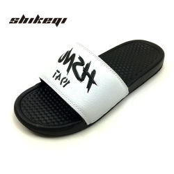 5b38188ed Shikeqi High Quality Fancy Men Slides Custom Logo
