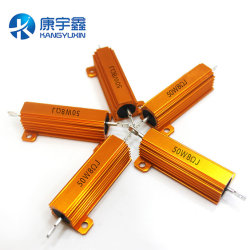 50W 100W 200W 300W High Power Gold Aluminum Shell Resistor