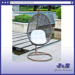 Single Hanging Swing for Outdoor Garden Rattan Furniture, Garden Wicker Hanging Chair (J4308)