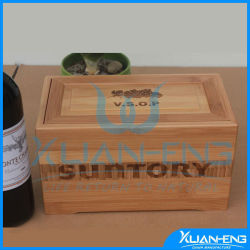 OEM Bamboo Wine Box with Special Finishing