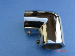 "AISI 316 Stainless Steel Marine Boat Handrail Elbow Fitting 90 Deg., 7/8"""