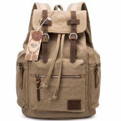 Vintage Canvas College School Student Travel Sports Laptop Hiking Backpack