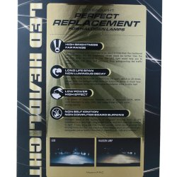 Nissan Car Parts Fanless Copper Belt White LED Light Price Auto Working Lamp