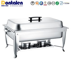Dontalen Hot Sale Roll Top Stainless Steel Buffet Food Warmer Catering Restaurant Equipment Appliance Heater Chafing Dish Kitchenware