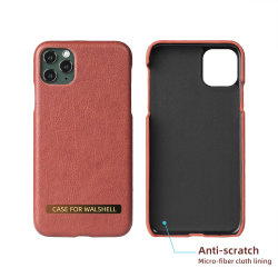 OEM PU Leather Hard PC Case for iPhone 11 PRO Max Se2 7 8 Xs Max