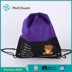 Low Price Logo Printed Sport Non Woven Drawstring Bag