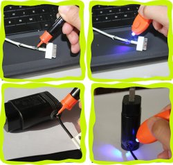 High Quality Invisible Ink Pen with UV Light