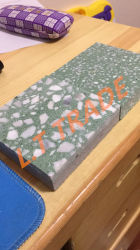 Wear Resistant, Easy Maintenance, Can Be Refurbished Green Color Range Terrazzo Tiles
