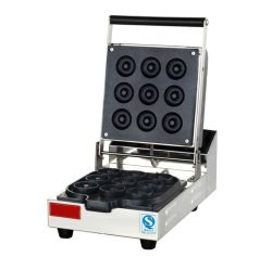 Astar Commercial Doughnut Making Machine with 9 Mini Donut Mould Electric Snack Maker