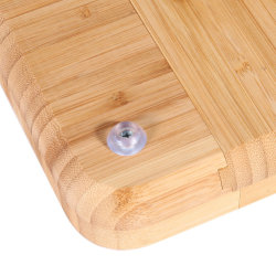 100% Natural Bamboo Cheese Board with Cutlery Set with Slide-out Drawer