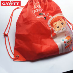 Full Imprint Polyester Bag Drawstring Backpack Sport Gift Outdoor Bag