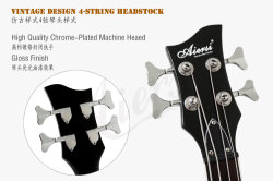 Wholesale OEM ODM Archtop 4-String Electric Violin Bass for Sale