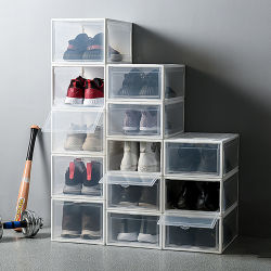 Professional Design Clear Plastic Gym Sports Shoe Stackable Shoe Storage Box