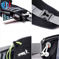 Outdoor Neoprene Waterproof Hiking Cycling Running Belt Waist Bag Sport Fanny Pack with Water Bottle Holder