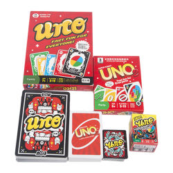 Factory Direct Sale Hight Quality Different Size Dirty Giant Uno Filp Playing Cards Uno Card Game
