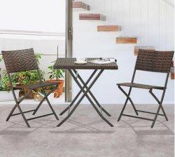 Pe Rattan Chair Plastic Wood Desk Set Furniture