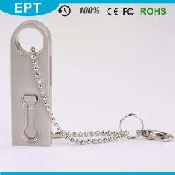 OTG Metal Stick Shape Mini USB Flash Drive with Keychain
