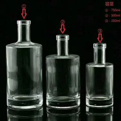 High Quality Wholesale Glass Jar Whiskey or Vodka Bottle