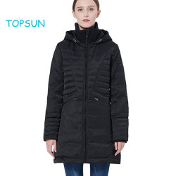 f31a02987 Girl's New Styles Black Apparel Wear Puffer Thickened Down Jacket Winter  Thick Hooded Coat
