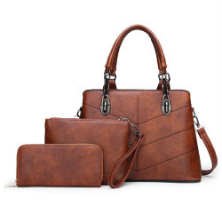 d38cc179002f Women Lady Fashion Designer Luxury Elegant Handbag Tote Set Bags