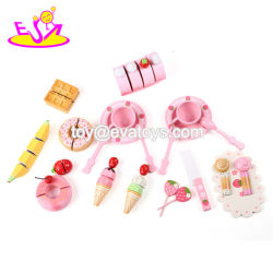 New Design Lovely Kids Cutting Wooden Toy Kitchen Food for Pretend Play W10b208