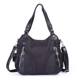 Women Top Handle Satchel Handbags Shoulder Bag Messenger Tote Washed  Leather Purses Bag 31b00735f4bab