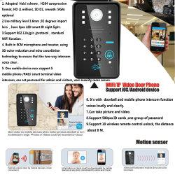 Wholesale WiFi Video Door Phone Doorbell with Remode Key Fingerprint ID Card