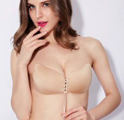 Silicone Invisible Strapless Bras Reusable Backless Bras for Women (RS 015)