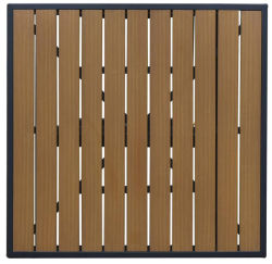 Wholesales Outdoor Aluminum High Density Polywood Table Top (PWC-15609)
