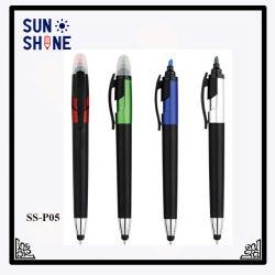 Wholesale Promotion Plastic Highlighter Ball Pen